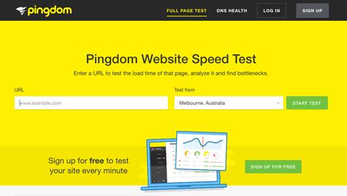 サイト表示速度測定ツール Pingdom「Website Speed Test」