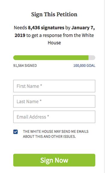 ホワイトハウスの請願署名サイト「We The People」〜辺野古の工事ストップ嘆願