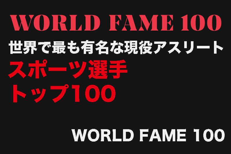 【世界で最も有名な現役アスリート】スポーツ選手トップ100「WORLD FAME 100」