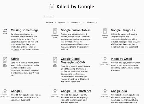 【挑戦し続けるGoogle】Googleが廃止したサービス墓場を散策して想うこと