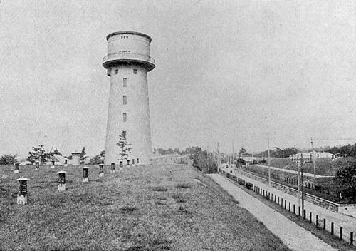 昭和初期の名古屋「配水池及配水塔(東山給水塔)」
