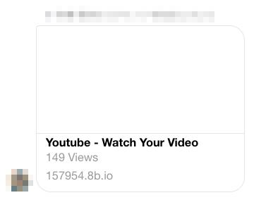 「このビデオはいつですか?」facebookでYoutube動画リンク偽装乗っ取り | 迷惑メール実例075