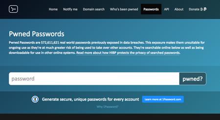 「Pwned Passwords」でパスワードの漏洩を確認する