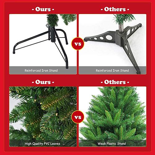 【ハーフボディのクリスマスツリー】省スペースでゴージャスに空間装飾